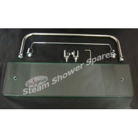 Étagère vitrée pour douche Insignia