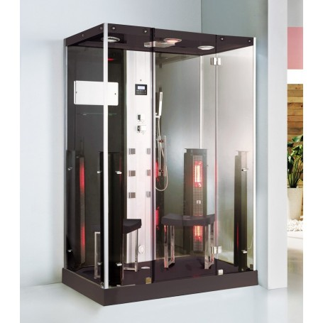 Douche Boreal® Combi Duo 145 - hammam + infrarouge à spectre total