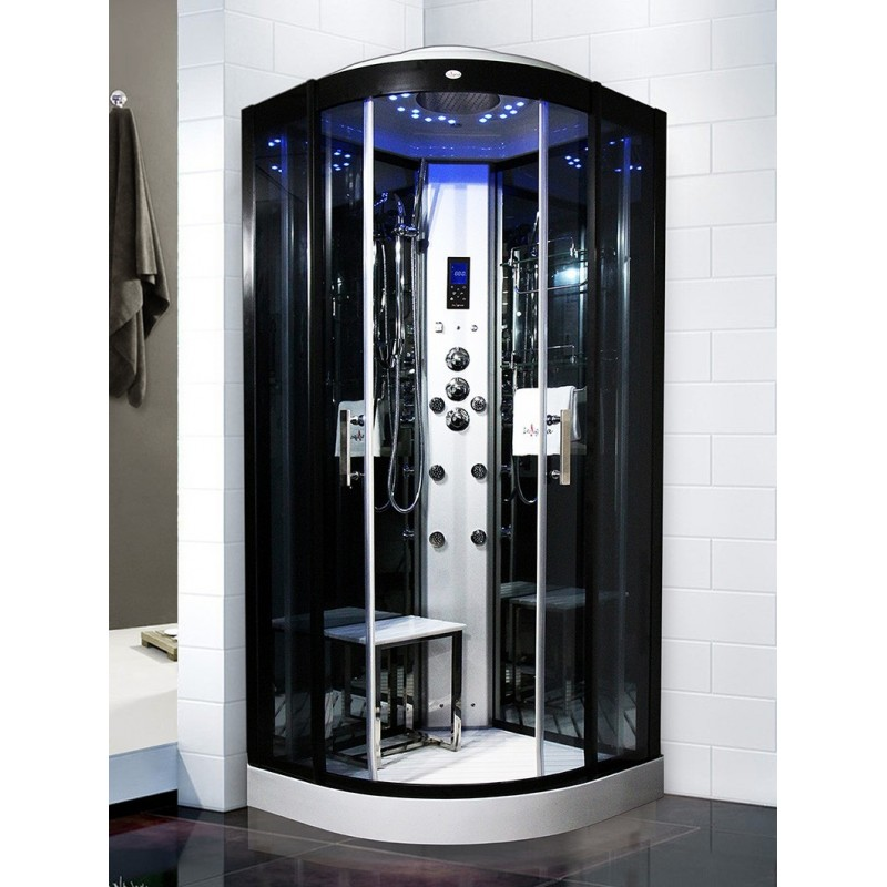 cabine de douche hammam insignia galaxy 90 90x90cm. Black Bedroom Furniture Sets. Home Design Ideas