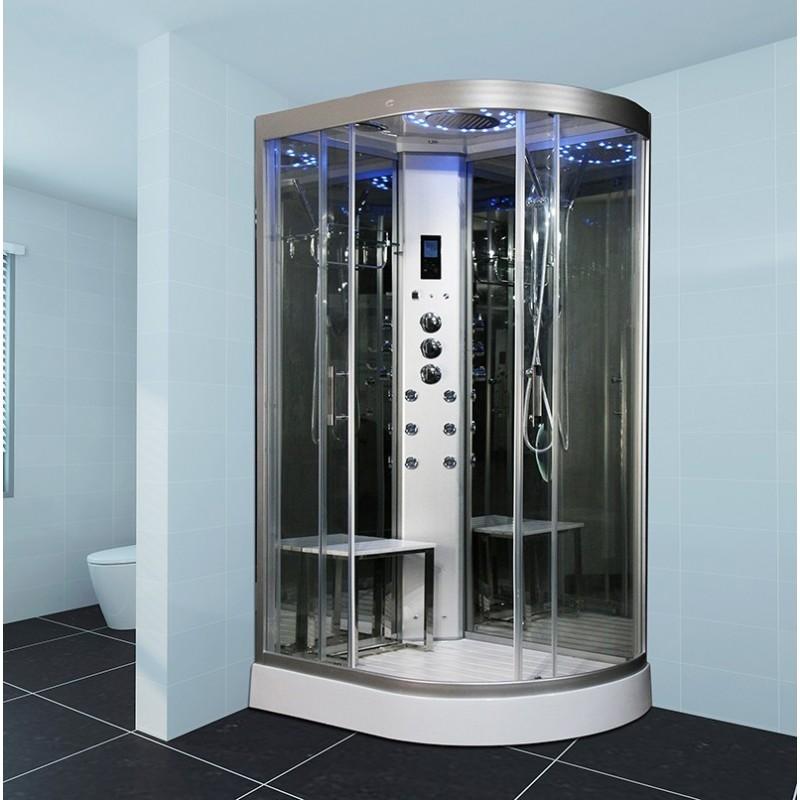 Cabine de douche hammam insignia neptune gauche 80x120 - Cabine douche hammam sauna ...