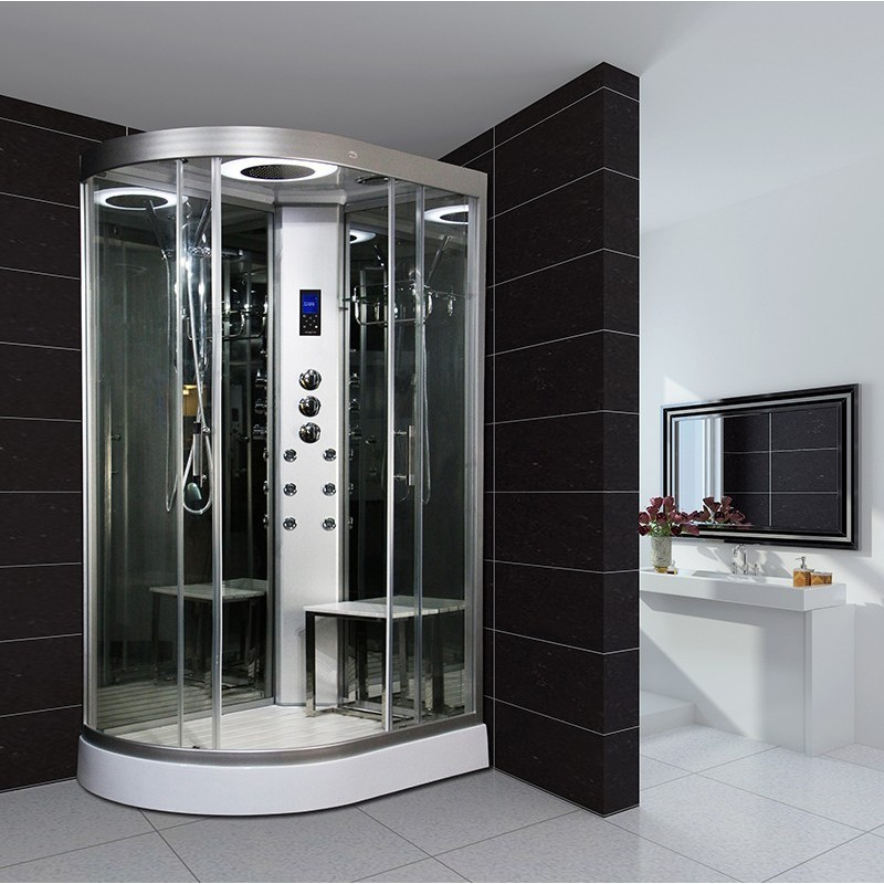 cabine de douche hydromassante insignia neptune hydro miroir gauche 80x120. Black Bedroom Furniture Sets. Home Design Ideas