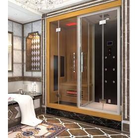 Combi Boreal® SIGMA 1820 x 1220 Sauna infrarouge + Douche hammam