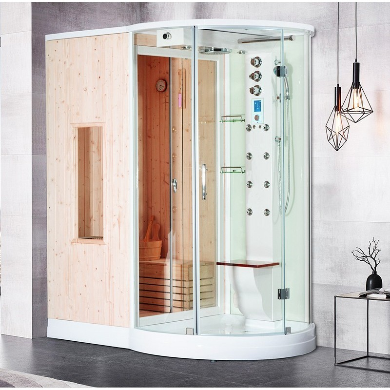 perfect combi boreal sh angle a gauche with sauna. Black Bedroom Furniture Sets. Home Design Ideas