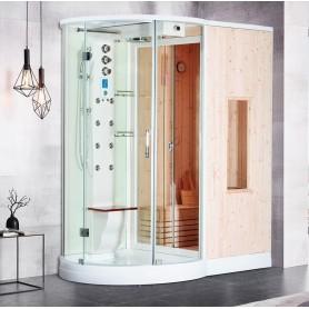 Combi Sauna+Douche+Hammam Boreal® SH175 ANGLE A GAUCHE
