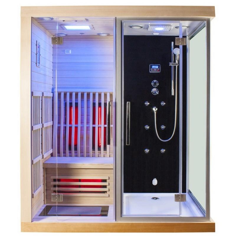 Combi Boreal SIGMA 1820 x 1220 Sauna infrarouge + Douche hammam