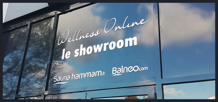 Wellness Online - façade du showroom