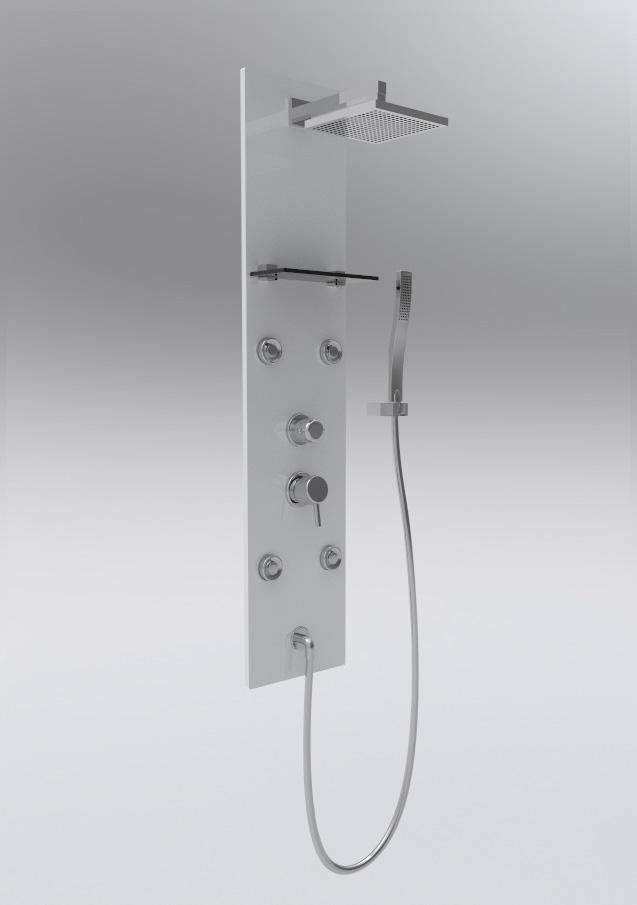 colonne de douche baln o glass blanche. Black Bedroom Furniture Sets. Home Design Ideas
