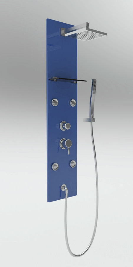 colonne de douche baln o glass bleue. Black Bedroom Furniture Sets. Home Design Ideas