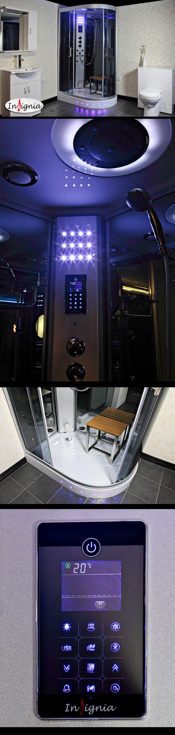 cabine de douche hammam insignia neptune gauche 80x120. Black Bedroom Furniture Sets. Home Design Ideas