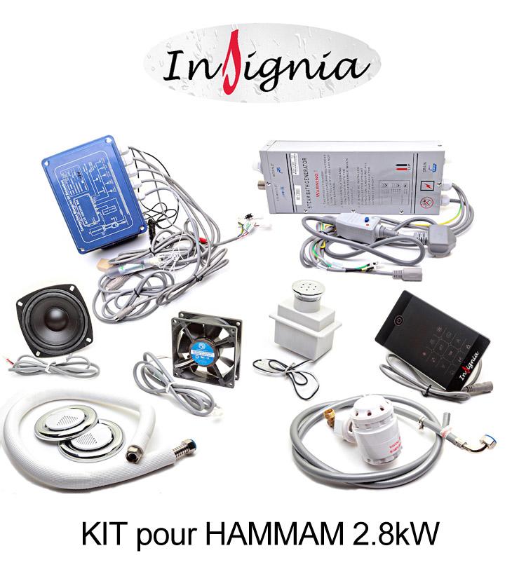 kit complet pour hammam insignia. Black Bedroom Furniture Sets. Home Design Ideas