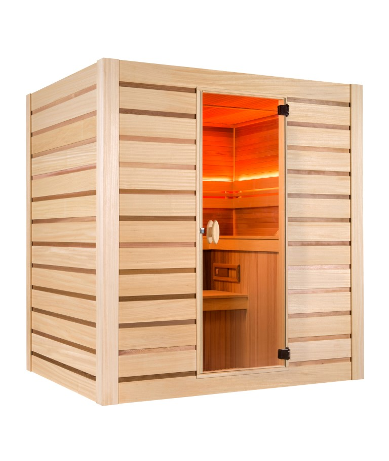 sauna vapeur c leste 6 personnes. Black Bedroom Furniture Sets. Home Design Ideas