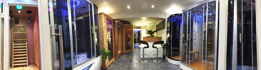 Showroom osny sauna for Sauna piscine paris