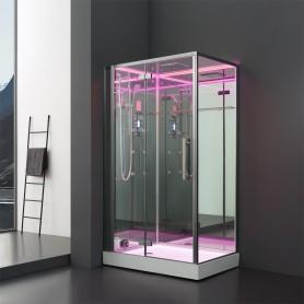 Cabine douche Hammam Archipel® Pro 120G MIROIR (120x90cm) 2 places