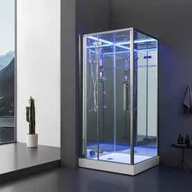 Cabine douche Hammam Archipel® Pro 100G MIROIR (100x100cm) 1 à 2 places