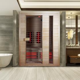 Sauna Infrarouge Boreal® Diffusion 150 - 2 à 3 places à Spectre Complet - 150x100