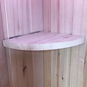 Tablette en bois d'hemlock repliable pour sauna