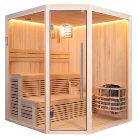Sauna d'angle Boreal® Baltik 180 - 5 places - 180x180x210 cm