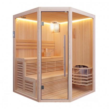 Sauna d'angle Boreal® Baltik 160 - 3/4 places - 160x160x210 cm