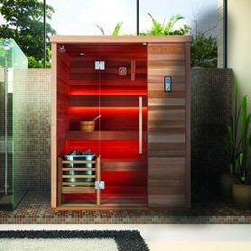 ​Sauna Boreal® Evasion Luxe 4 places - 180 x 150 x H210