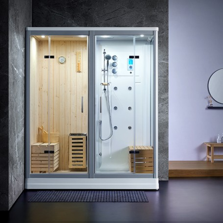 Sauna Douche Hammam Boreal® SH180-G Blanc gauche