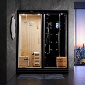 Sauna Douche Hammam Boreal® SH180-G Black gauche