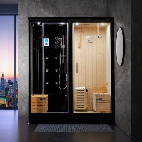 Sauna Douche Hammam Boreal® SH180-D Black droite