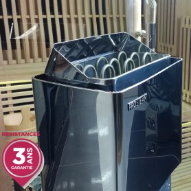 Pôele pour sauna Pro Steam® 4.5kW INOX à commande déportée (poêle seul : commande non incluse)