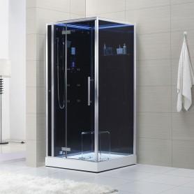 Cabine douche Hammam Archipel® Pro 100L BLACK (100x100cm) 1 à 2 places