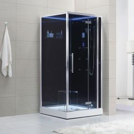Cabine douche Hammam Archipel® Pro 100D BLACK (100x100cm) 1 à 2 places