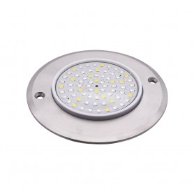 Spot led pour hammam. Pack complet 2 spots inox multicolore et blanc à LED pour hammam PROSTEAM (Alim et télécommande incluse)