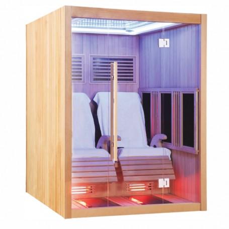 Sauna infrarouge Boreal® JAZZ DUO - 2 fauteuils inclinables à spectre complet 150x180