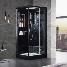 Cabine douche Hammam Archipel® Pro 95D BLACK (95x95cm) - 1 place
