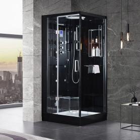 Cabine douche Hammam Archipel® Pro 95G BLACK (95x95cm) - 1 place