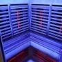 Sauna Boreal Infrarouge d'Angle 130x130 - intérieur 08