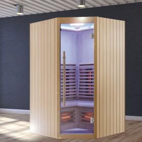 Sauna Infrarouge Boreal® Signature 130C d'Angle à Spectre Complet