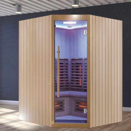 Sauna Infrarouge Boreal® Signature 150C d'Angle à Spectre Complet