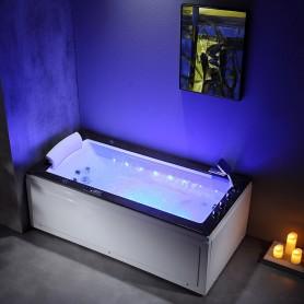 Baignoire balneo LORD SOLO MAX BLACK 1 place ARCHIPEL® 180X90 - DROITE