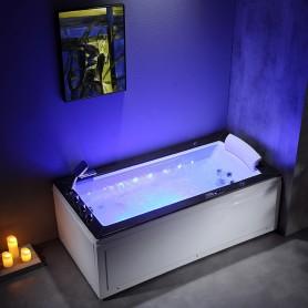 Baignoire balneo LORD SOLO MAX BLACK 1 place ARCHIPEL® 180X90 - GAUCHE