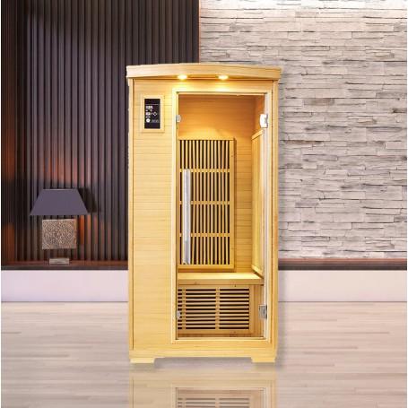 Sauna infrarouge NORDICA® CARBONE 1 PLACE 90x90