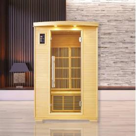Sauna infrarouge NORDICA® CARBONE 2 PLACES 120x100