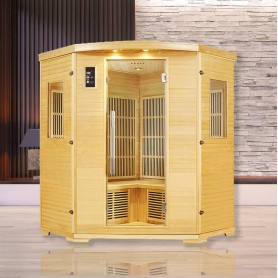 Sauna infrarouge NORDICA® CARBONE 3/4 PLACES 150x150