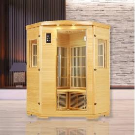 Sauna infrarouge NORDICA® CARBONE 2/3 PLACES 125x125