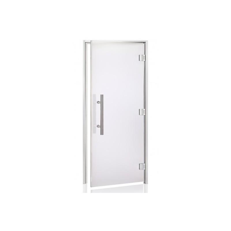 Porte vitrée LUXE 90 pour hammam largeur 90 cm hauteur 200 cm 513c3c559ac