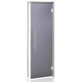 Porte vitrée LUXE GREY 70 pour hammam largeur 70 cm hauteur 190 cm