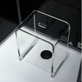SUGGESTION- 2ème Tabouret de douche transparent en acrylique pur