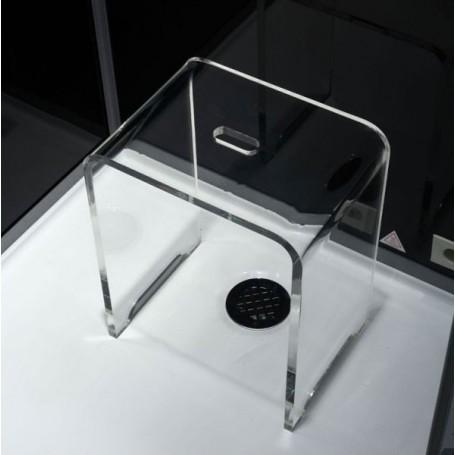 SUGGESTION- 2ème Tabouret de douche transparent en acrylique pur