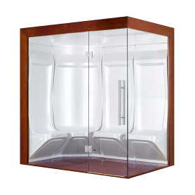 Hammam Boreal® Pro Steam Quatuor 194,5x134,5 Droite - Aristech'® 2 places