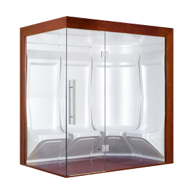 Hammam Boreal® Pro Steam Quatuor 194,5x134,5 Gauche - Aristech'® 2 places