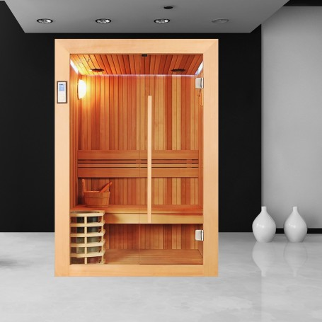 sauna boreal evasion 130 sauna de luxe en c dre rouge 2 personnes. Black Bedroom Furniture Sets. Home Design Ideas