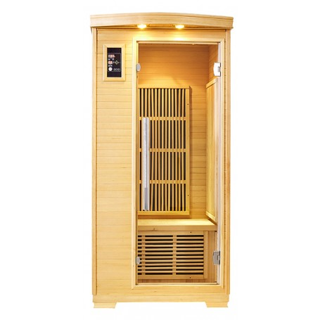 Sauna infrarouge NORDICA® CARBONE 1 PLACE 90x90